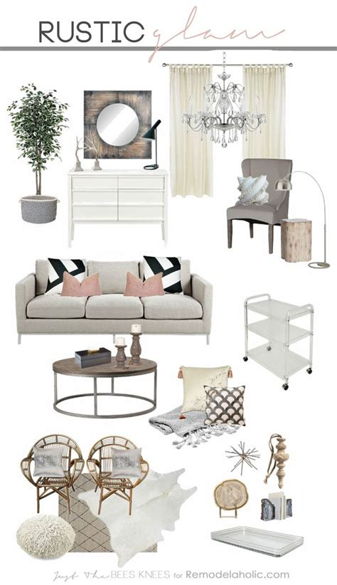 Rustic Chic Home Decor - tips for decorating in a rustic glam style a great