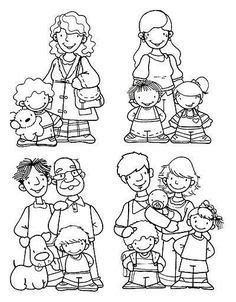 aamory images family coloring pages bff drawings