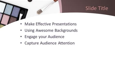 cosmetic powerpoint template  powerpoint templates