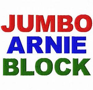 jumbo arnie block machine embroidery font sizes With jumbo block letters
