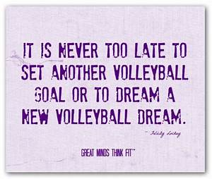Good Luck Volleyball Quotes. QuotesGram