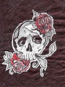 Dessin Tete De Mort Avec Rose : dessin t te de mort roses thierry le mec kool ~ Melissatoandfro.com Idées de Décoration