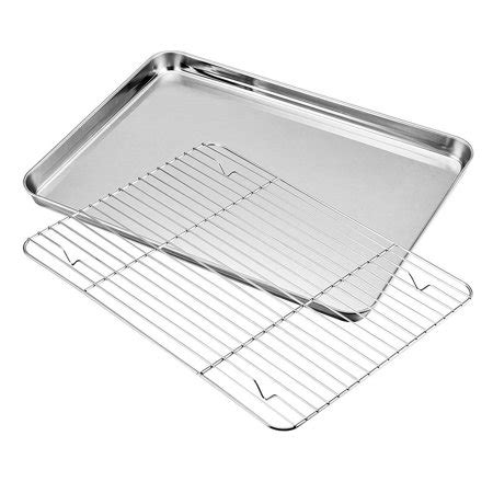 cooling stainless rack steel sheets baking cooking rust x10 ghp resistant cookie walmart sheet