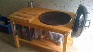 Weber kugelgrill in tisch eingebaut zuk nftige projekte for Weber grill tisch
