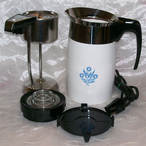 Check out our antique coffee pot selection for the very best in unique or custom, handmade pieces from our home & living shops. Vintage Corning Ware Blue Cornflower Electric Coffee Pot ...