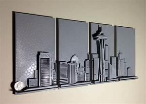 3d Wall Art : 3d printed seattle skyline wall art 3d printing industry ~ Sanjose-hotels-ca.com Haus und Dekorationen