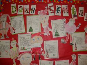dear santawriting a letter to santa and bulletin board With paper letters for bulletin board