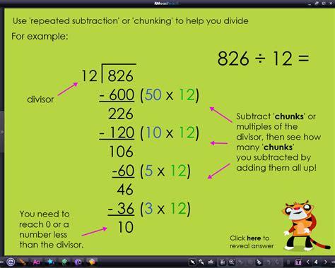 chunking method worksheet ks2 division worksheetsision