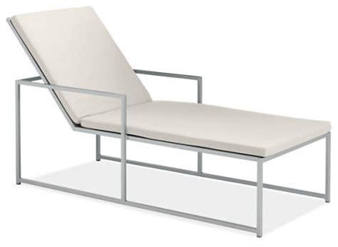 chaise cushion white modern outdoor chaise