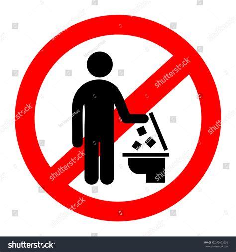 Do Not Throw Trash Toilet Stock Vector 392692252