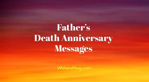 death anniversary messages  father remembrance quotes