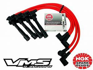 Vms Honda B16 Engine Racing 10 2mm Spark Plug Wires Ngk V