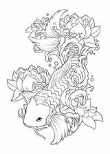 Koi Fish Drawing Tattoo Drawings Tattoos Coloring Designs Pages Japanese Places Ship Adult Visit Carp Uploaded User Word Ponds sketch template