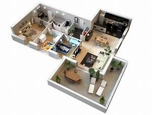 Plan Maison 3D 3 Chambres