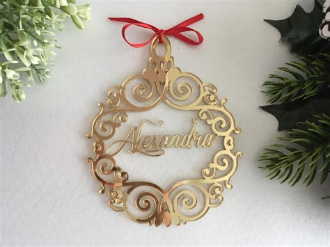 Christmas Name Bauble Custom Xmas Tree Ornaments First Christmas Gifts Couple Online By Not On The High Street Teen Gift Top 10 Ideas Nice For Women Police Officer Baskets Friends