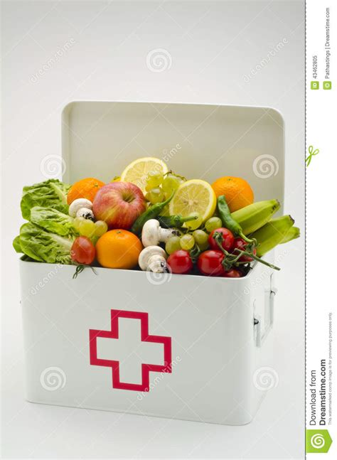 cuisine aid healthy food aid box filled with fruits and vegetables stock photo image 43462805