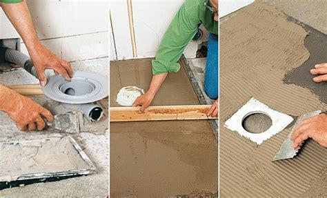 Installer L'évacuation D'une Douche à L'italienne