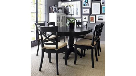 Crate And Barrel Dining Room Furniture by Avalon 45 Quot Black Extension Dining Table Crate And