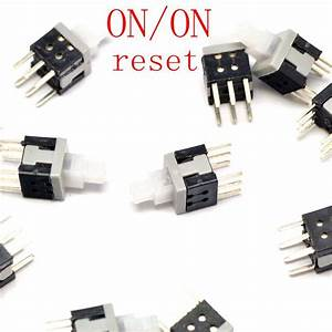 Tactile Push Button Key Switch Tact Self Lock 6 Pins On