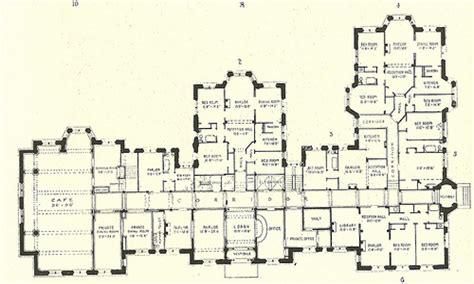 luxury mansion floor plans historic mansion floor plans