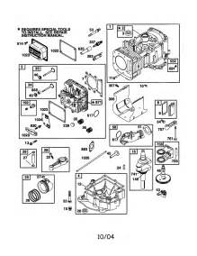 Briggs and Stratton Engine Parts Numbers