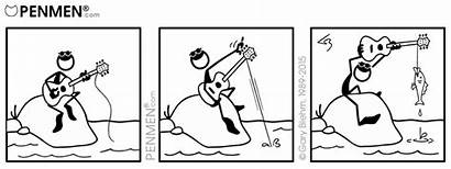 Comics Penmen Comic Wordless Strip Guitar Strips