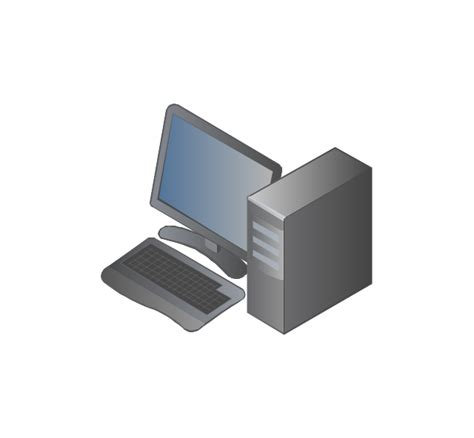 computers  network isometric vector stencils library