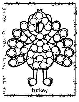 turkey dot marker bingo dauber fine motor skill printable
