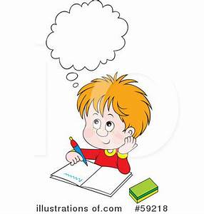 Think clipart Student Thinking Clipart - Pencil and in ...