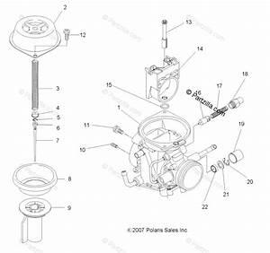 Polaris Atv 2008 Oem Parts Diagram For Engine  Upper