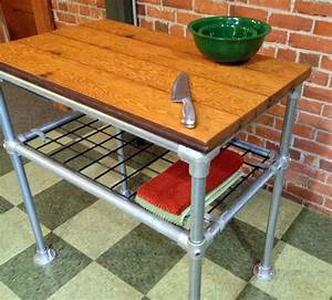 Kitchen Island Reclaimed Wood Industrial by