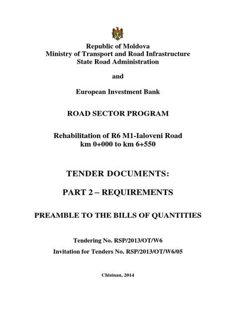 R6_Part 2 Requirements - BOQ (Preamble)_Ver1 | General