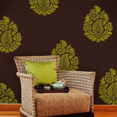 Indian Paisley Motif Wall & Furniture Stencil Royal