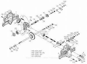 Hydro Gear 774711 Parts Diagram For Transaxle