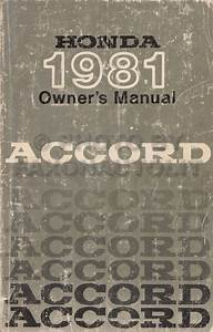 1981 Honda Accord Repair Shop Manual Original