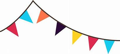 Banner Flag Clipart Bunting Clip Flags Party