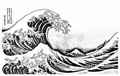 Coloring Pages Wave Kanagawa Japan Adults Waves