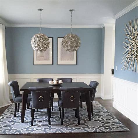 benjamin nimbus grey dining room interiors by color