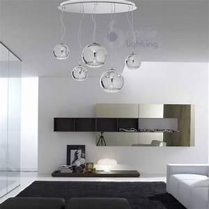 Lampadario sospensione grande design moderno sfere cromate