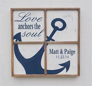 Anniversary Gift, Love Anchors The Soul, Nautical Anchor