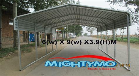 portable metal carport kits large steel carport shelter 6 x 9m portable