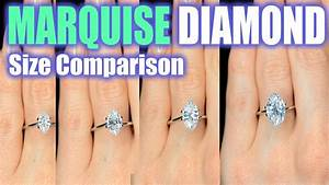 Marquise Cut Diamond Size Comparison On Hand Finger