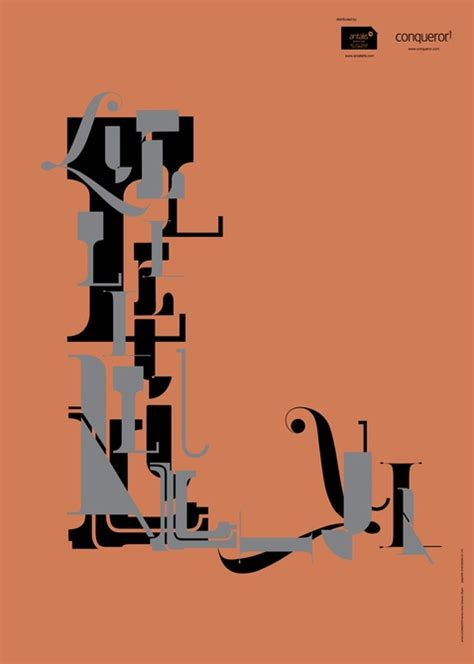 antalis typography poster graphis