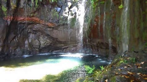 Levadas Waterfall Madeira Portugal 25 Fonts Youtube
