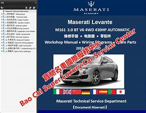 Maserati Levante M161 Quattroporte M156 Ghibli M157 Workshop Manual Wiring Diagram Maserati