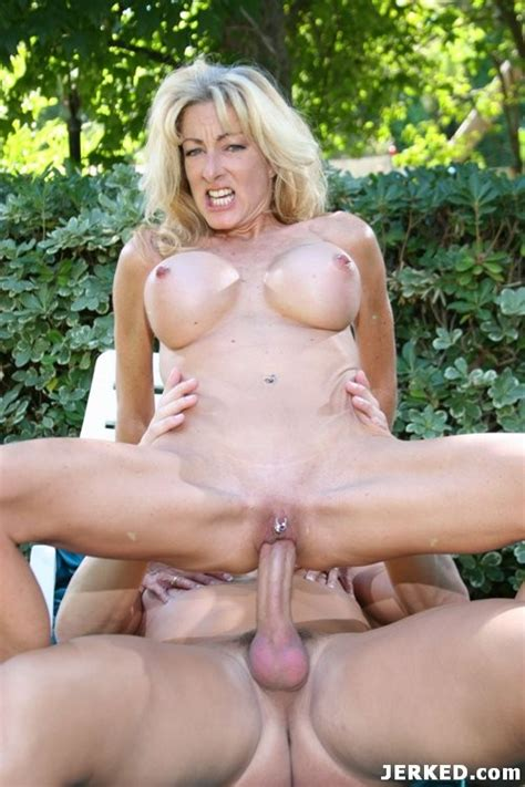 Pierced Tits Blonde Mature Woman Hardcore Sex Outdoors