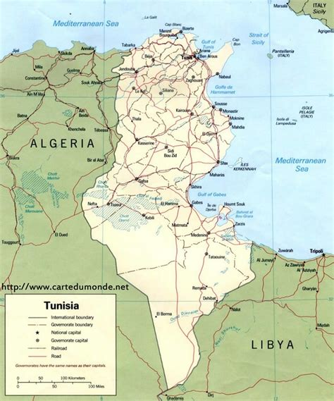 Carte Du Monde Tunisie by Grande Carte Tunisie Sur Carte Du Monde