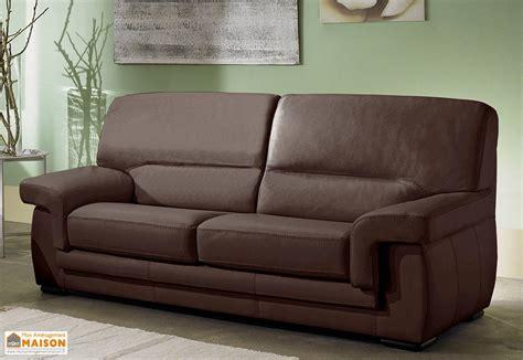 canapé cuir veritable canapé en cuir véritable 3 places viviane 192x88x90cm l l