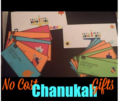 no cost gift ideas no cost chanukah gift idea