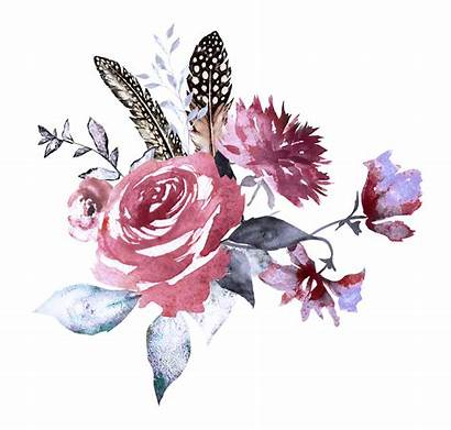 Watercolor Drawing H833 Floral Flower